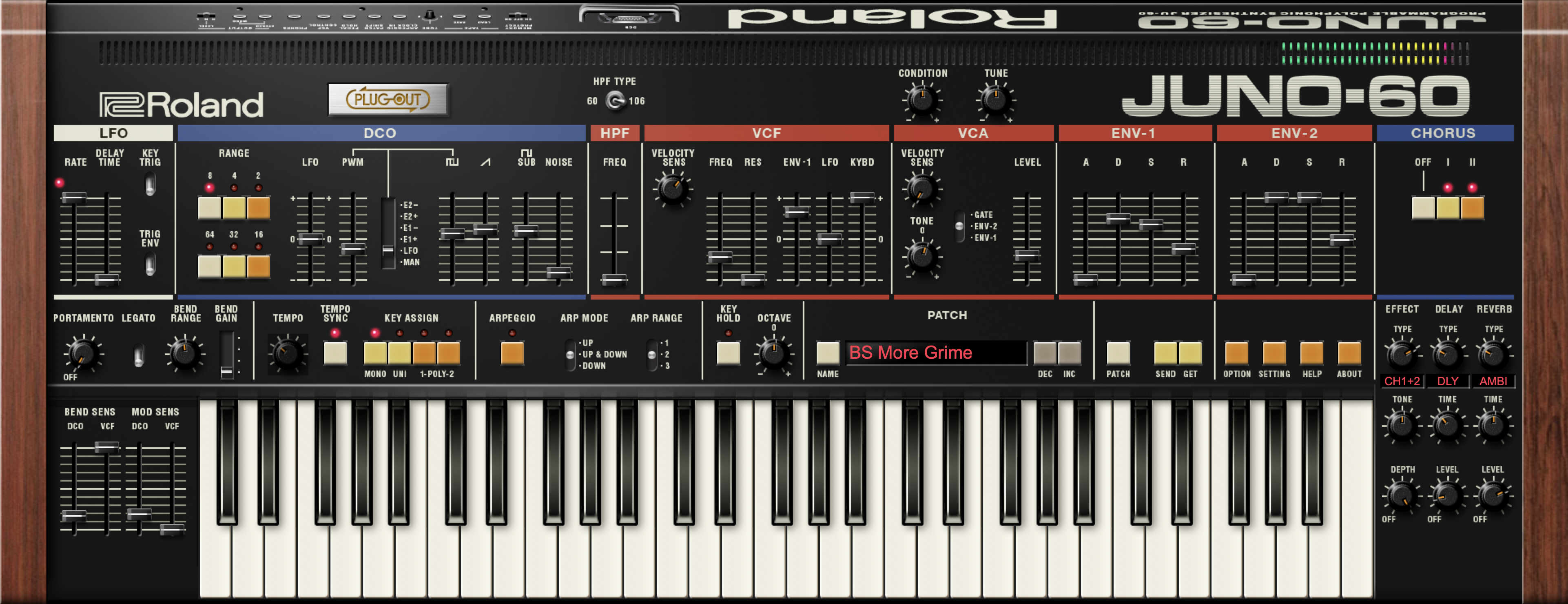 Roland Juno 60 Software Synthesizer